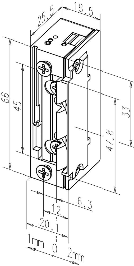 Elektro-Türöffner eff-eff 138.13 ProFix 2, mit Radiusfalle