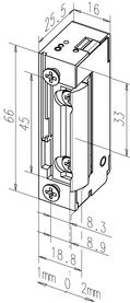 Gâches électriques eff-eff 118EY FaFix avec demi-tour radial