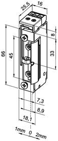 Gâches électriques eff-eff 118 FRR FaFix avec demi-tour radial