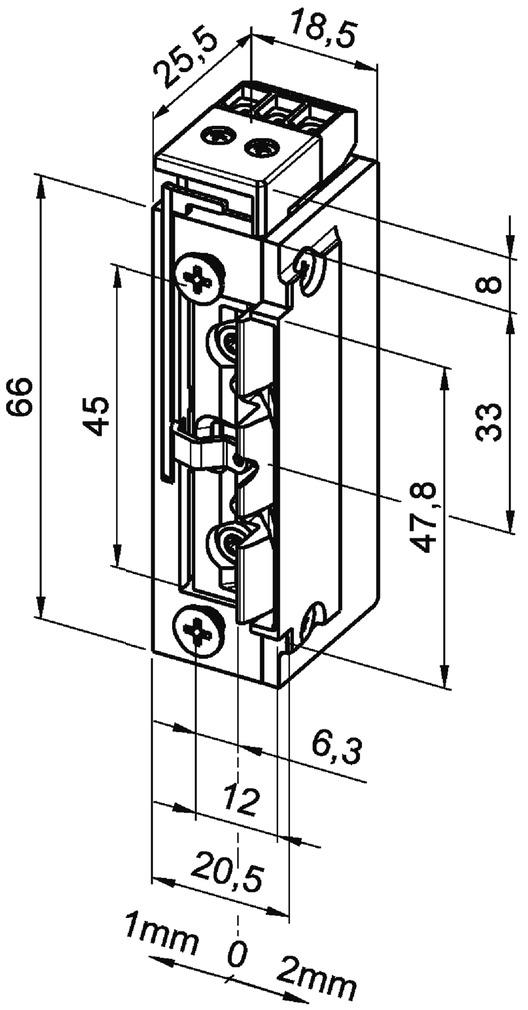 Elektro-Türöffner eff-eff 118 F.23 ProFix 2