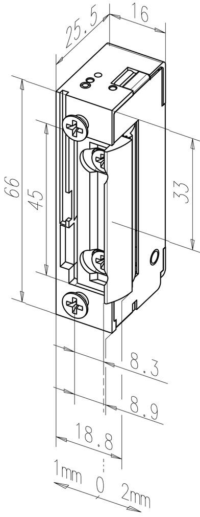 Gâches électriques eff-eff 128 FaFix avec demi-tour radial