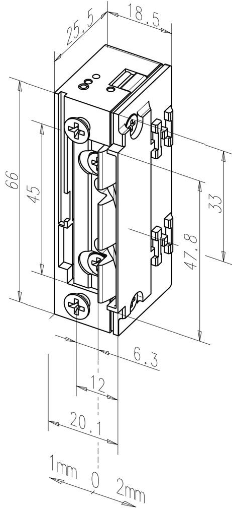 Elektro-Türöffner eff-eff 118 E.13 ProFix 2