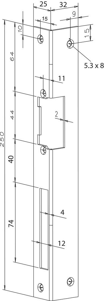 Winkelschliessbleche für Türöffner eff-eff