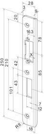 Controcartelle rettangolari per apriporta eff-eff  Profix 2