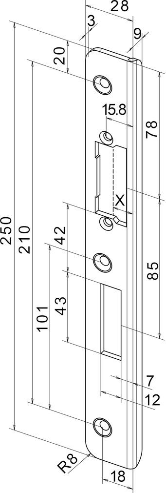 Winkelschliessbleche für Türöffner eff-eff Profix 2