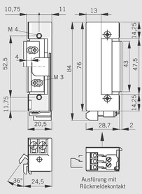 Gâches électrique standard à émission de courant DORMA série Basic Lucky