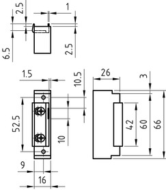 Gâches électriques GLUTZ 91072