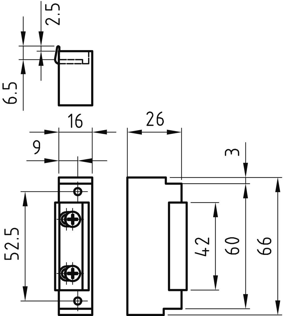 Gâches électriques à protection incendie GLUTZ 91004