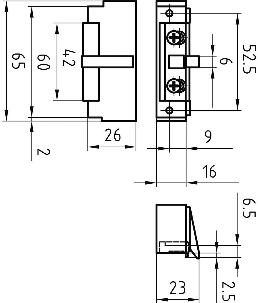Feuerschutz Elektro-Türöffner GLUTZ 91006