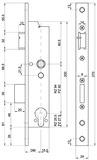 Rohrrahmen-Panik-Sicherheits-Einsteckschloss MSL DELTA 19544 PE-SV