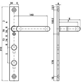 Cartelle interne con maniglia piegata a gomito MSL 5979
