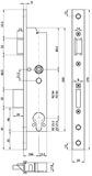Serratura d'infilare di sicurezza antipanico telaio tubolare MSL DELTA 19446 PBa