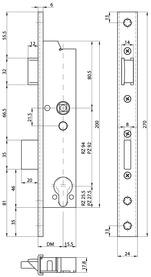 Serratura d'infilare di sicurezza antipanico telaio tubolare MSL DELTA 19446 PBe