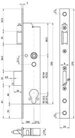 Serratura d'infilare di sicurezza antipanico telaio tubolare MSL DELTA 19446 PBa-ZF