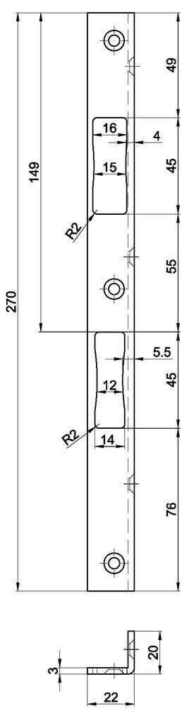 Controcartelle rettangolari MSL B-19421