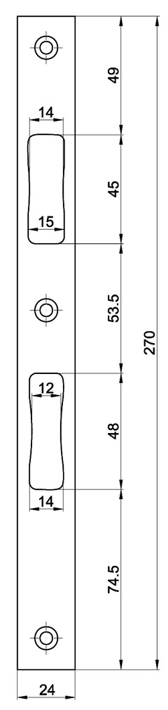 Controcartelle piane MSL B-19421