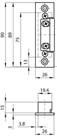Controcartelle per telai d'acciaio MSL VariFlex BV-19421