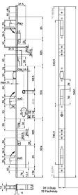 Serrures verrouillage mulitpoints de sécurité MSL ProfilTribloc 19354