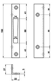 Controcartelle rettangolari MSL B-19351Z