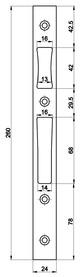Controcartelle piane MSL B-19351H