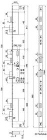 Serrures verrouillage multipoints MSL FlipLock 24544 PE-SV-TF