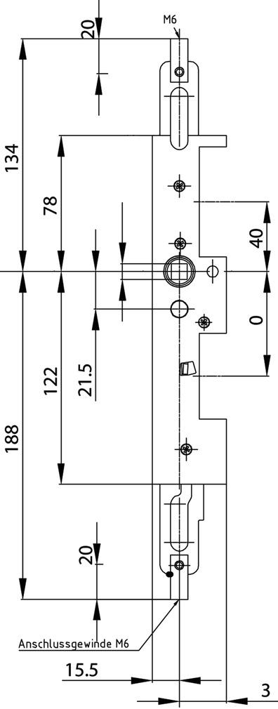Verrouillage pour vantaux fixes antipanique MSL 24413-M