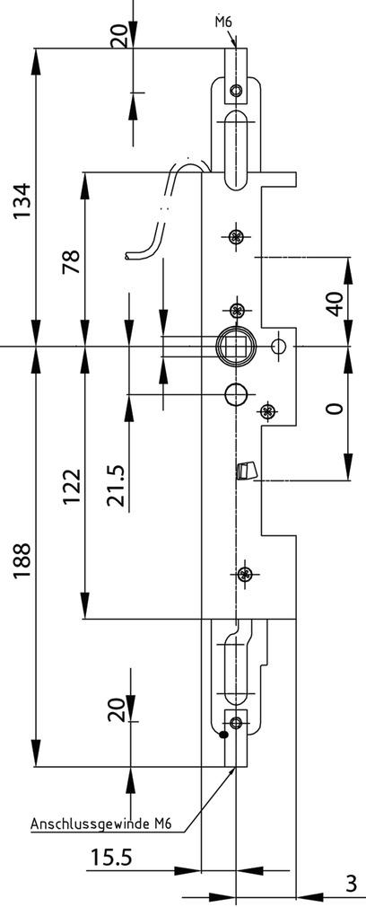 Verrouillage pour vantaux fixes antipanique MSL 24413-M-TF