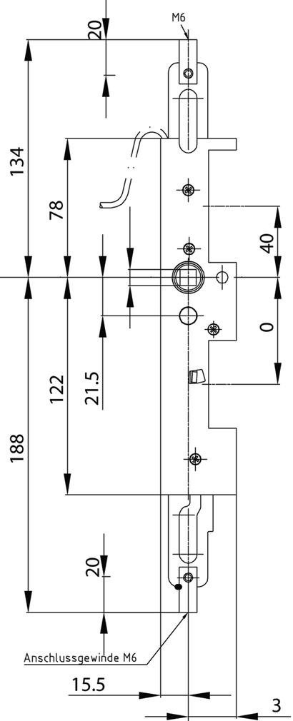 Verrouillage pour vantaux fixes antipanique MSL 24473-M