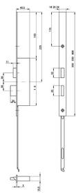 Prolungo testiera XL per 24421 serrature MSL FlipLock