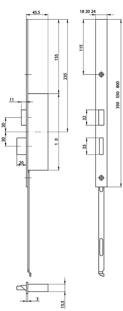 Têtières complémentaires XL pour 24421 serrures MSL FlipLock