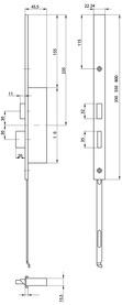 Prolungo testiera XL per 24421 serrature MSL FlipLock testiera U