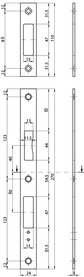 Controcartelle piane MSL B-23421