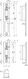 Controcartelle per cricca per telai d'acciaio MSL BV-24421 VariFlex