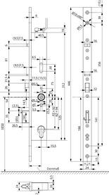 Serrature antipanico con funzione di autochiusura eff-eff OneSystem 509NE