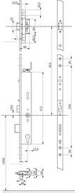 Chiusura multipunto antipanico con funzione di autochiusura eff-eff OneSystem 519NEcon serrature a cricca
