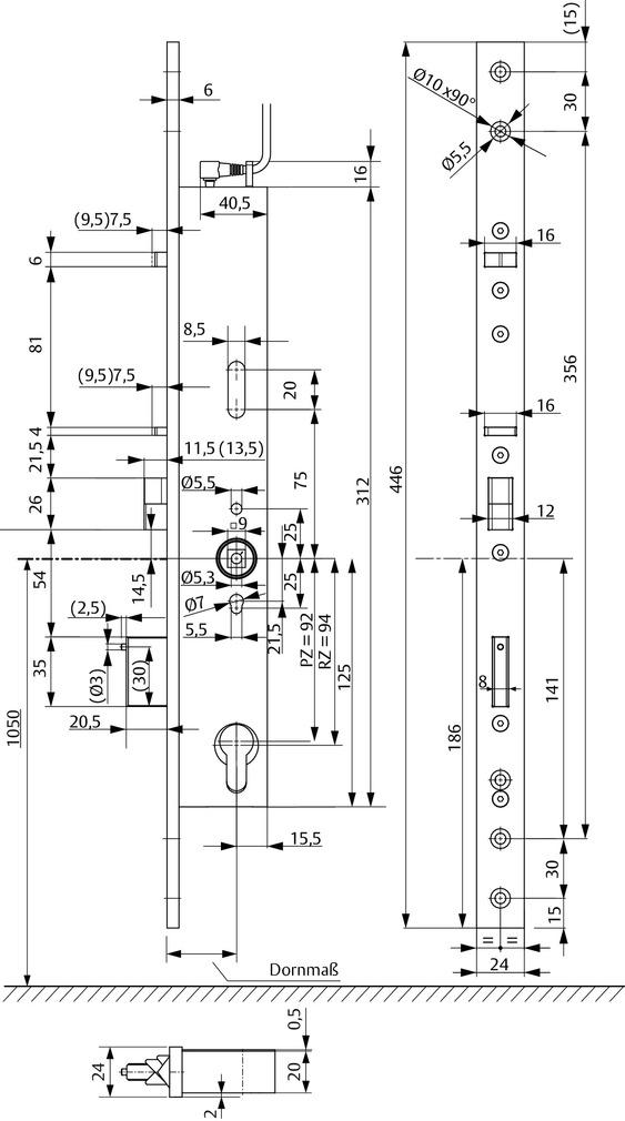 Serrures antipaniques à verrouillage automatique à béquille contrôlée eff-eff OneSystem 809NE