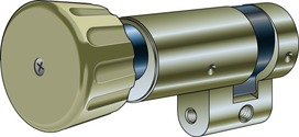 Drehknopf-Halbzylinder Kaba Typ M1514 D