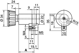 Demi-cylindres avec bouton tournant Kaba type M1514 D