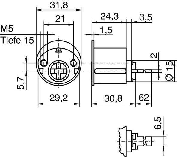 Cylindres extérieurs KABA 8 type 1007 B