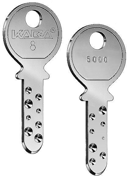 Zylinderschlüssel Kaba 8