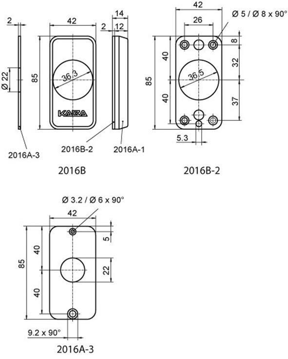 Rosetten-Garnitur Elostar Typ 2016 B