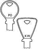 Zylinderschlüssel KESO mit Buchstaben-Bezeichnung