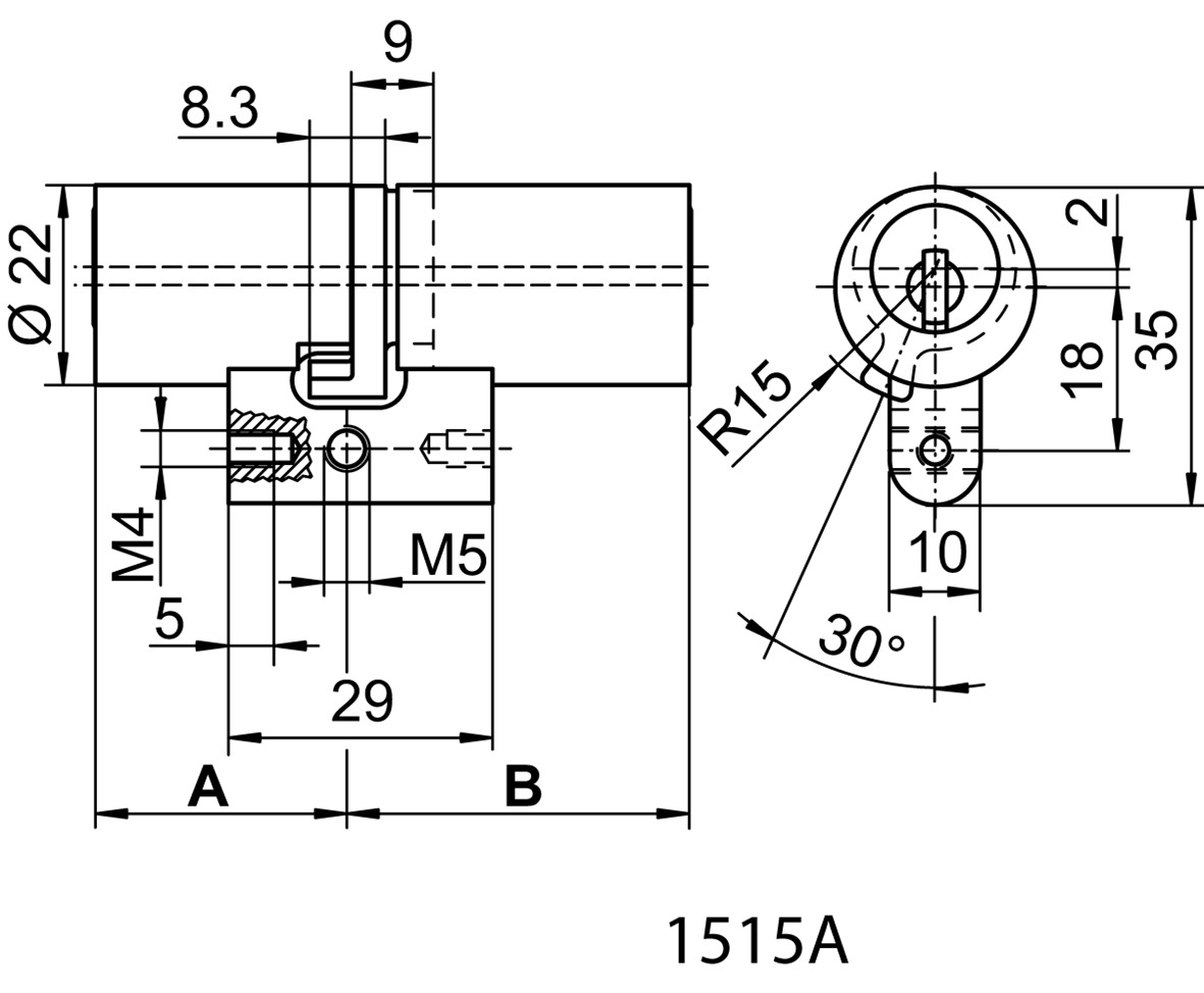 Doppelzylinder Kaba 20 Typ M1515 A