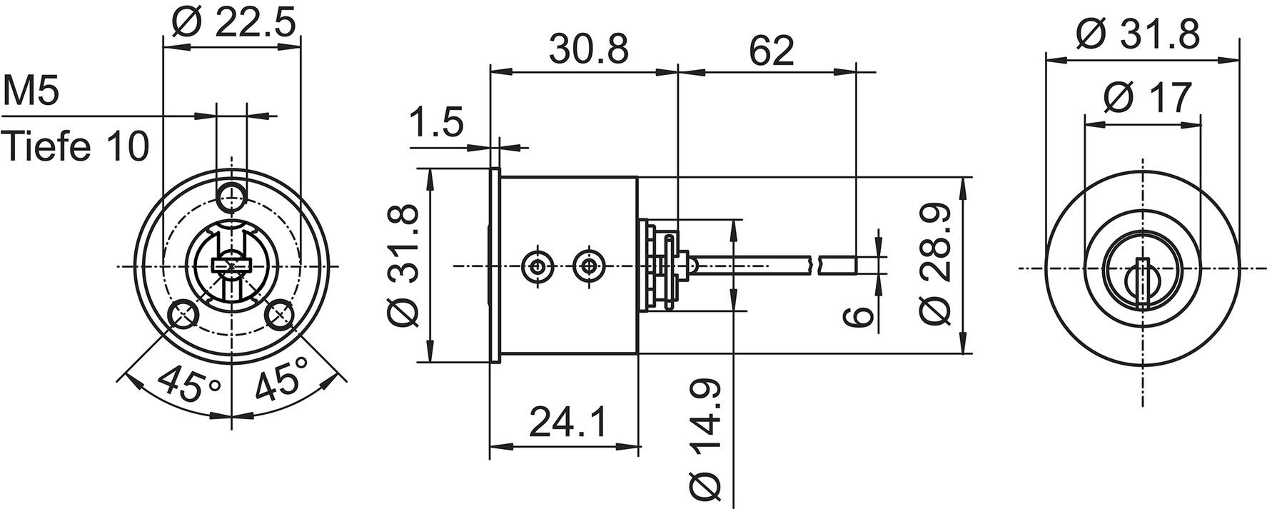 Aussenzylinder Kaba 20/star Typ M1007
