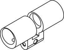 Boîtier cylindre double RZ Kaba Modular type 2215-1