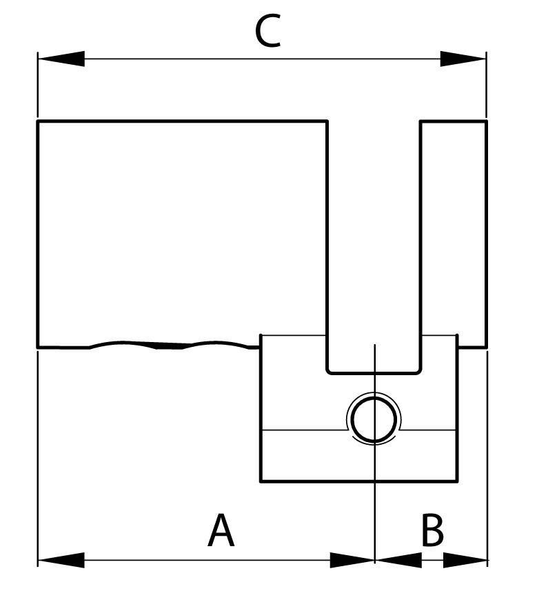 Gehäuse Halbzylinder RZ Kaba Modular