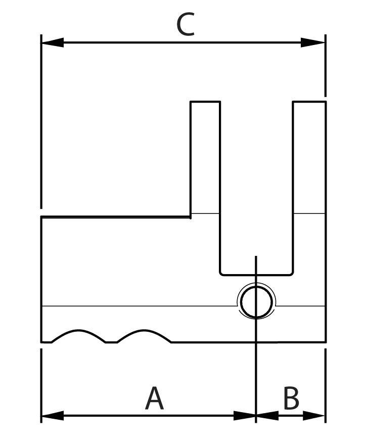 Gehäuse Halbzylinder PZ/Euro Kaba Modular