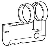 Boîtier demi-cylindre PZ/Euro Kaba Modular