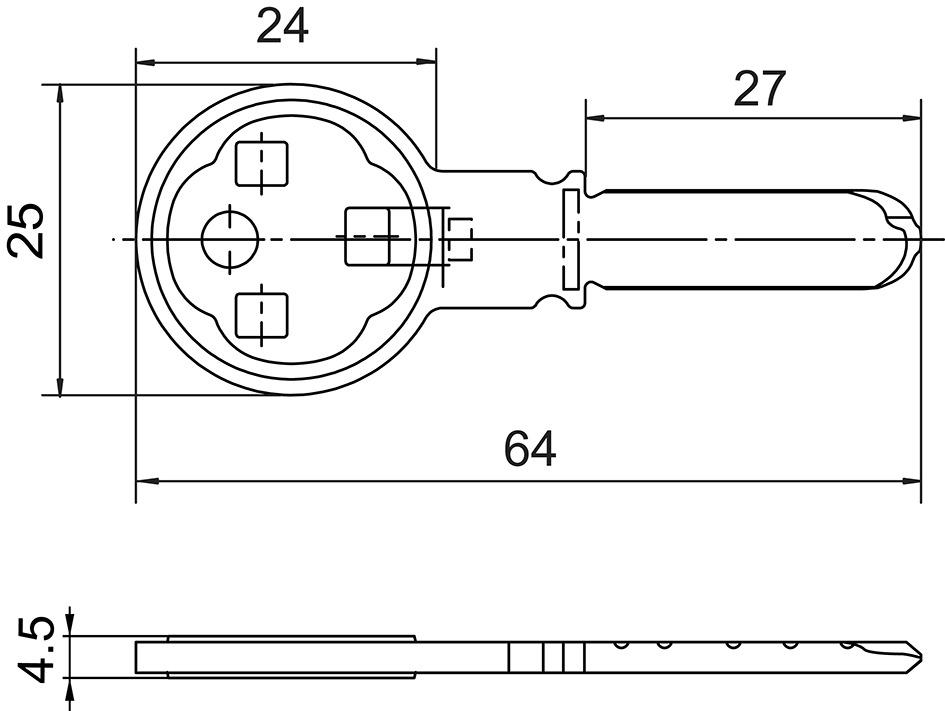 Zylinderschlüssel Kaba star SMEC-BE000, ab Werk