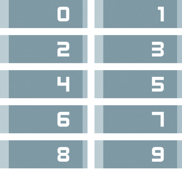 Kit de cartes à numéros